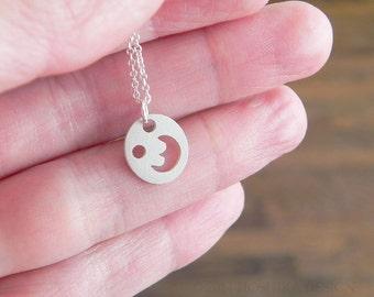 Mini Moon Halskette, Sterling Silber