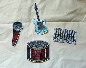 Instrument Sticker Bundle , Sticker pack , Sticker Bundle , Sticker Set , Sticker designs , Laptop stickers , Instruments , Glossy sticker