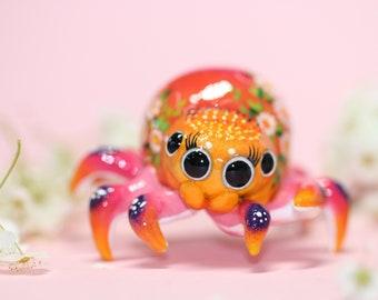 Sunset Spider Polymer Clay Figurine