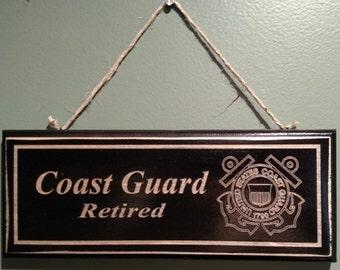 Coast Guard Retirement Wall Sign