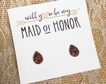 Will You Be My Maid of Honor Gift - bridesmaid gift