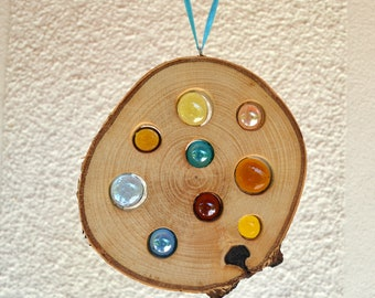 Wooden Sun catcher 14 cm-Birch natural