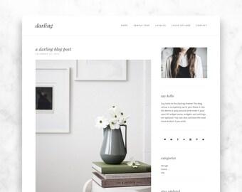 wordpress theme DARLING - a responsive, modern + minimalist wordpress template - blog design - premade