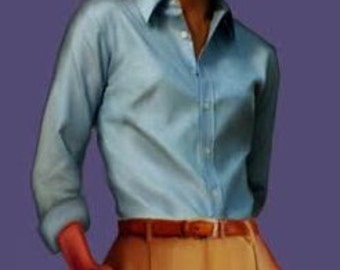 Classic shirt for women, 4 patterns for 4 different sizes