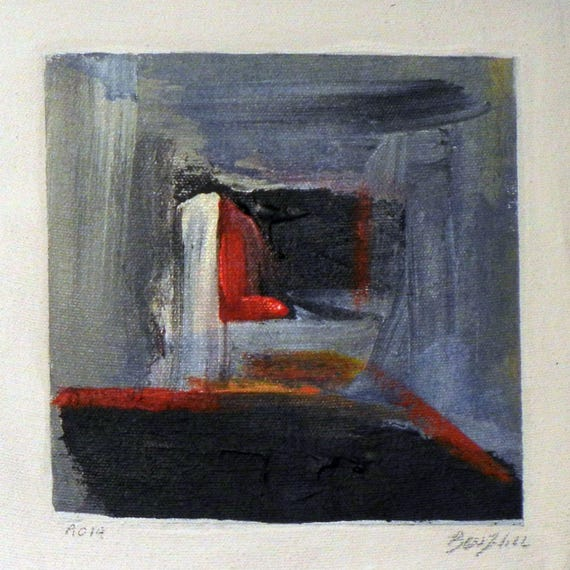 Daily Painting  A019 Small Abstract Study Painting by BenWill