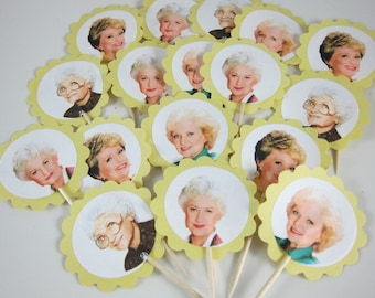 12 The Golden Girls Cupcake Toppers