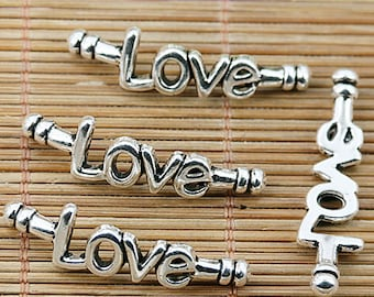 16pcs Tibetan silver word love connectors EF1878