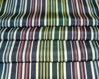 Vintage Japanese Silk Kimono Fabric Stylish Stipes