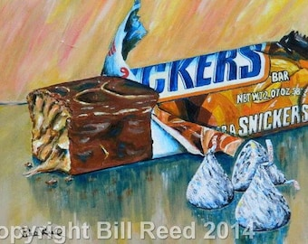My Affection for Confection - original acrylic painting on stretched canvas
