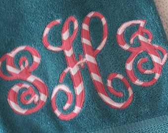 Monogrammed Towel Personalized - Home Decor - Perfect Gift - Graduation - Wedding - Birthday - Bath - Beach - Pool