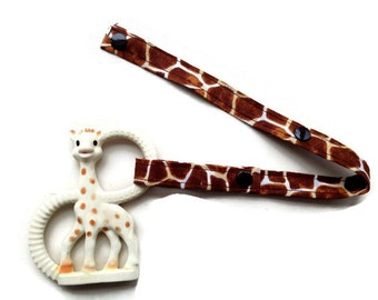Toy Leash, Sippy Cup Strap, Pacifier Saver -- Animal Print