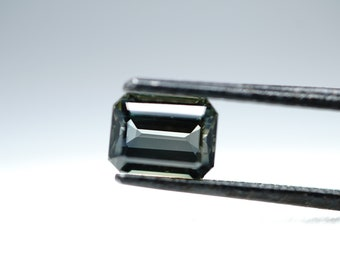 0.98ct Emerald Cut Natural Green Sapphire