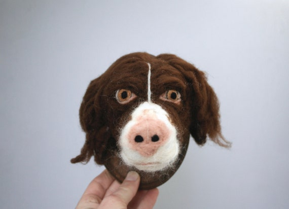 Customized Wool Felt, Needle-Felted Pet Plaque