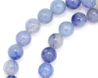 Blue Aventurine (Multi-Shade) Beads - 6mm Round
