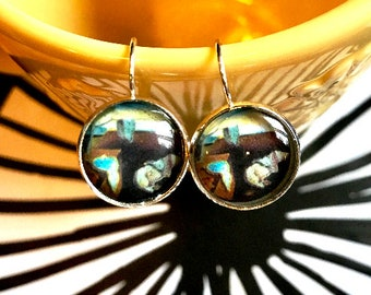 Dali melting Clocks cabochon earrings- 16mm