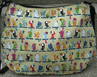 Tropical birds handbag