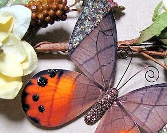 Butterfly Embellishments Nutmeg Wings