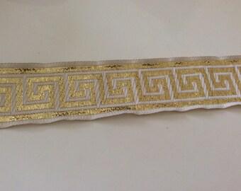 3,5 centimeter beige and Golden braid medieval sewing
