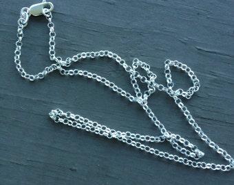 18 Inch Sterling Silver Rollo Chain