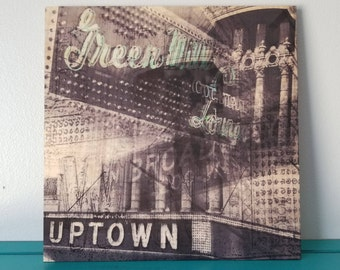 Green Mill/Uptown Theater - Black and White Photography - Wood Panel