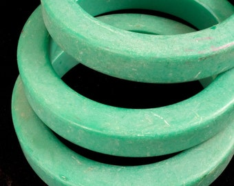 Matte Green Chunky Bangle #2386