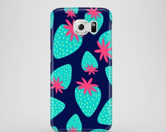 Mad strawberries Samsung Galaxy S7 case, funky Samsung Galaxy S6 case, S6 Edge, iPhone X, iPhone 8, iPhone 7, iPhone 6, 6S, iPhone 5, 5S, SE