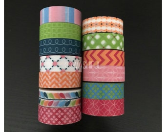 Remaining CLEARANCE rolls of assorted washi tape (M33)