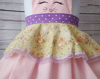 Bunny dress up apron