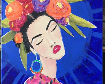 Deep Blue Frida Kahlo