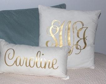 Monogram Pillow - Throw Pillow - Monogram Throw Pillow - Home Decor - Dorm Decor - Graduation Gift - Throw Pillow Cover - Decorative Pillow