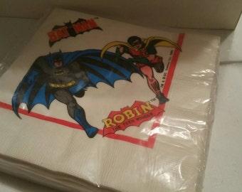 Batman and Robin rare 1966 party napkins