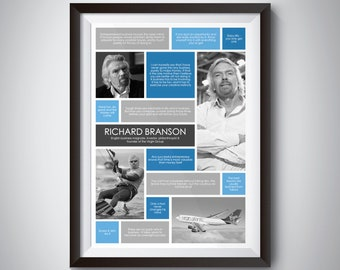 Richard Branson Quote Wall Art; Digital Download; inspirational quote print for motivation and success