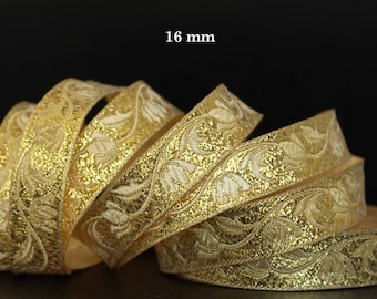 Embroidered Jacquard lace * medieval * 16 mm wide