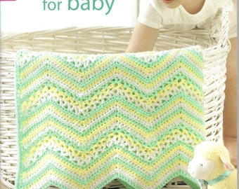 Sweet Stripes for Baby ~  Crochet Book ~  Leisure Arts ~  NEW BOOK  ~  Baby Afghans