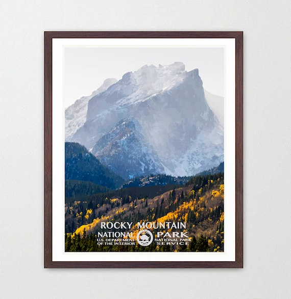 Rocky Mountain National Park - Rocky Mountain National Park Poster - National Park Art - WPA - WPA Poster WPA Art - Rocky Mountains
