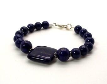 Evening Jazz Lapis Lazuli Bracelet – Blue Bracelet – Lapis Lazuli Bracelet
