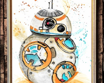 BB-8 watercolour