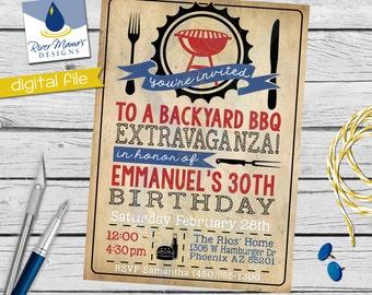 Printable BBQ Invitation / Birthday BBQ Invite