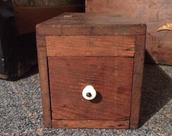 Antique black ball box, antique ballot box, vintage secret society box, rustic wooden box, vintage wooden box