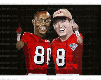 Jerry Rice and Steve Young Art Photo Print
