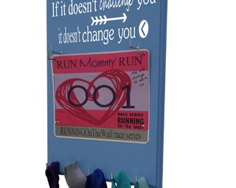 Gifts for runners, A Race Bib Hanger: if it doesn't challenge you it doesn't change you