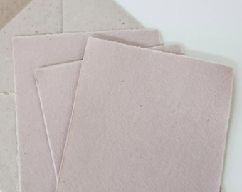 Mauve Deckle edge hand made cotton rag recycled paper