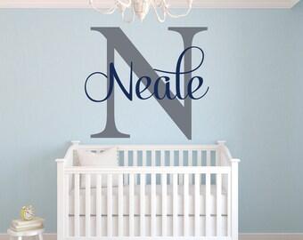 Name Wall Decal - Boy Name Wall Decal -Baby Boy Room Decor - Nursery Wall Decals Vinyl