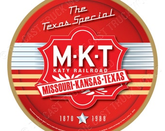 MKT-Katy Railroad Wood Plaque / Sign