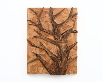 Tree of life Geometric Tree artwork made of old reclaimed wood, wood wall art, artwork