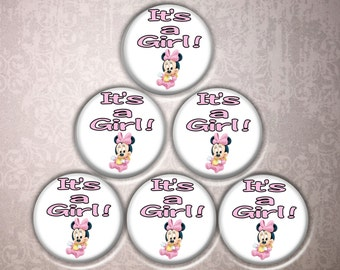 IT'S A GIRL pinback buttons