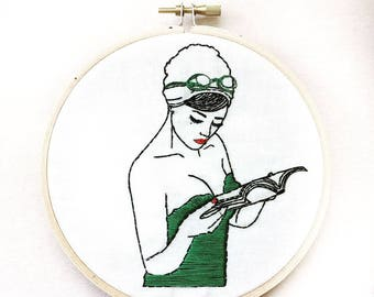 Girls Just Wanna Have Sun Embroidery