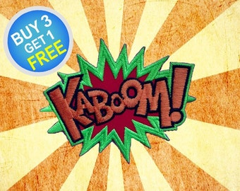 Kaboom Patches Funny Quotes Patches Patch Iron On Patch Embroidered Patches