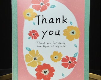 Light of My Life Thank You card