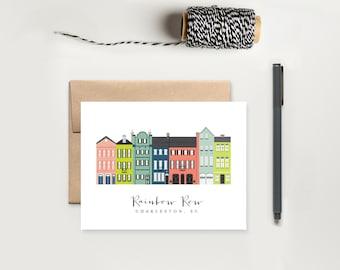 Charleston Rainbow Row Notecard Stationery Set